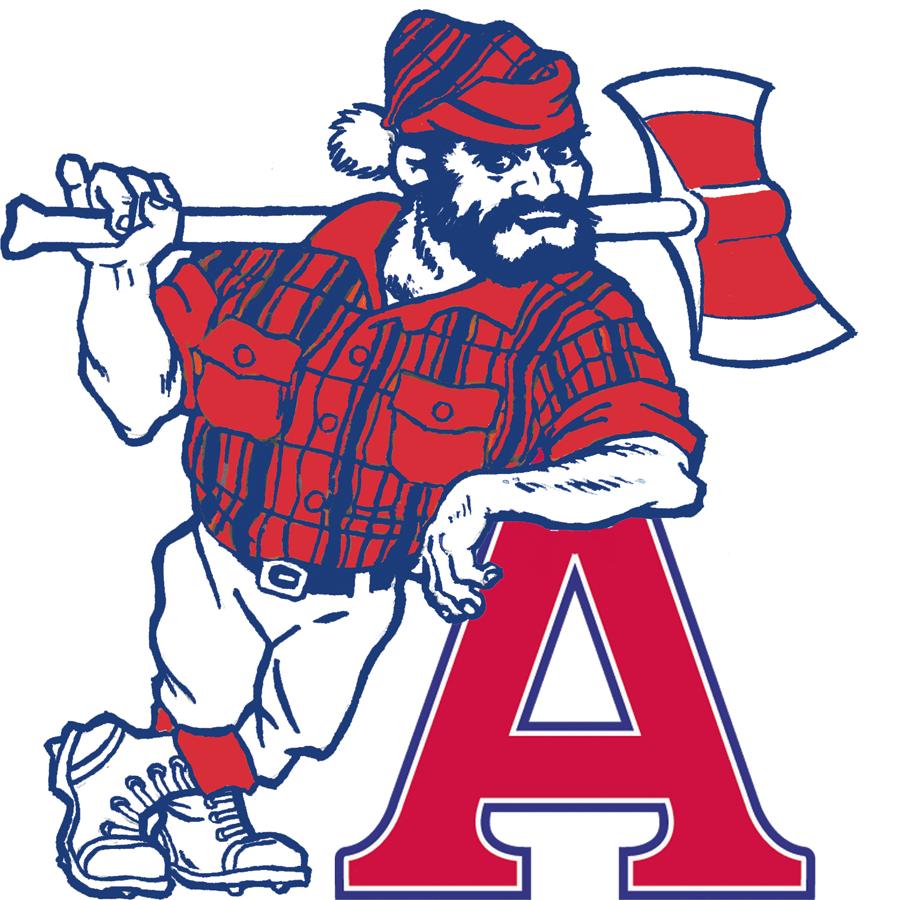 Acadia Axemen Logo Secondary Logo (2007-Pres) -  SportsLogos.Net