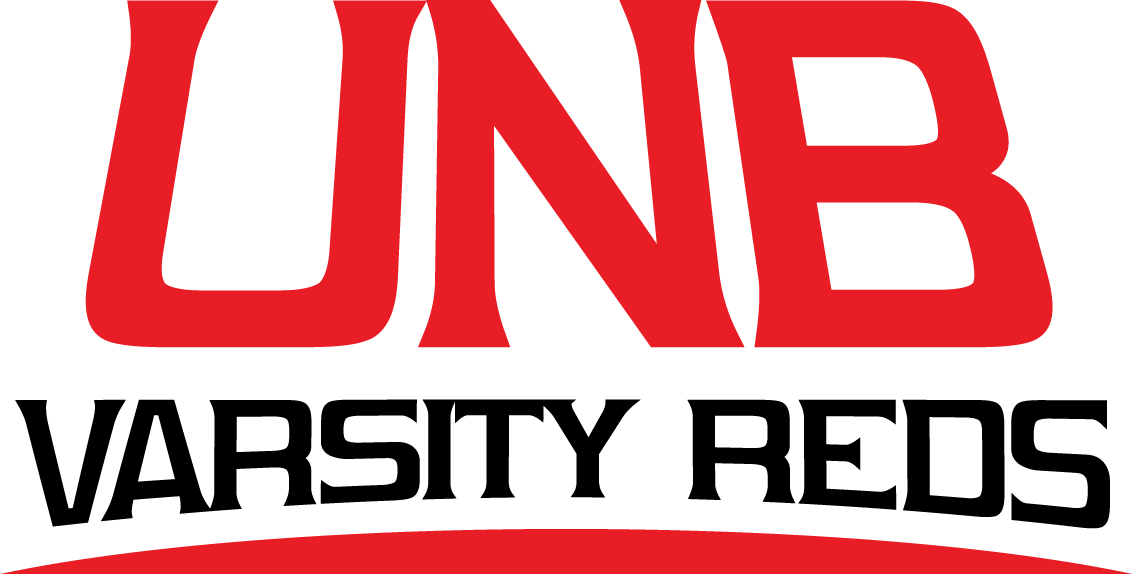 UNB Varsity Reds Logo Primary Logo (2009-Pres) - UNB in red with Varsity Reds in black underlined in red SportsLogos.Net