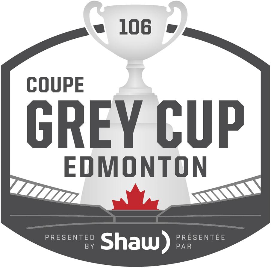 Grey Cup Logo Primary Logo (2018) - 2018 Grey Cup Logo - 106th Grey Cup Logo - Coupe Grey. Played in Edmonton, Alberta SportsLogos.Net