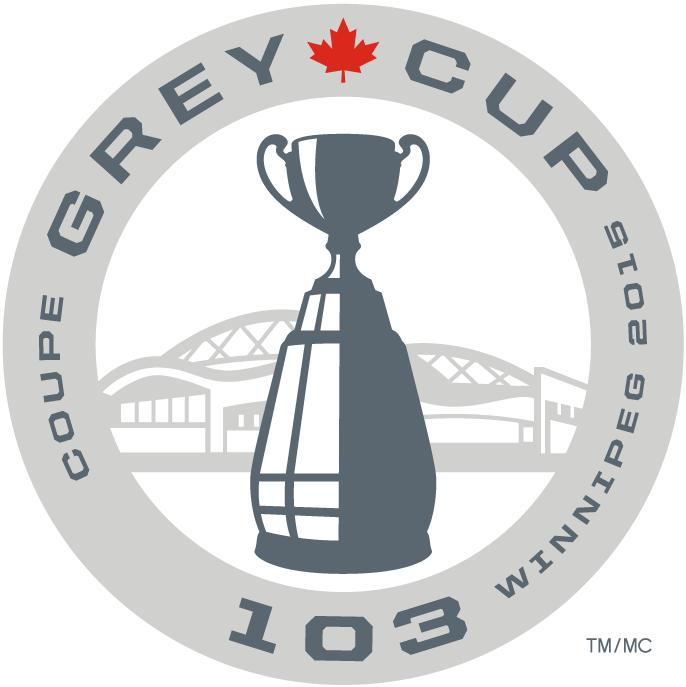 Grey Cup Logo Primary Logo (2015) - 2015 Grey Cup 103 Logo, Game played in Winnipeg SportsLogos.Net