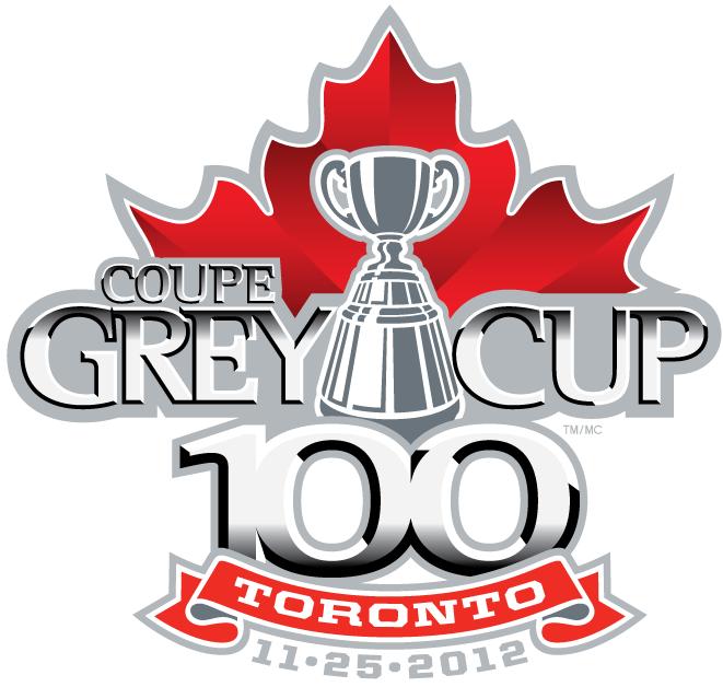 Grey Cup Logo Primary Logo (2012) - 2012 CFL Grey Cup Logo - 100th Grey Cup - Toronto, ON SportsLogos.Net