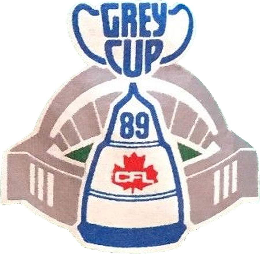 Grey Cup Logo Primary Logo (1989) - Grey Cup 1989 Logo played at SkyDome in Toronto SportsLogos.Net