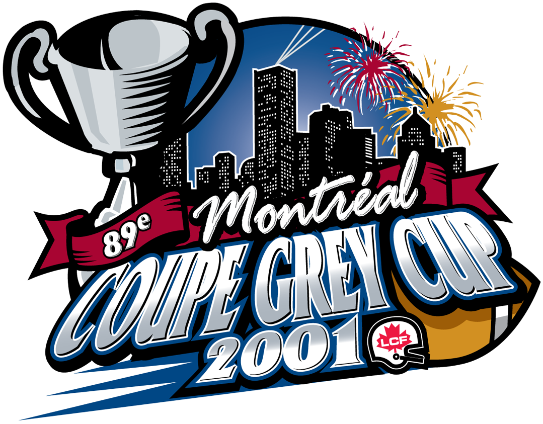 Grey Cup Logo Primary Logo (2001) - 89th Grey Cup in Montreal, Quebec SportsLogos.Net