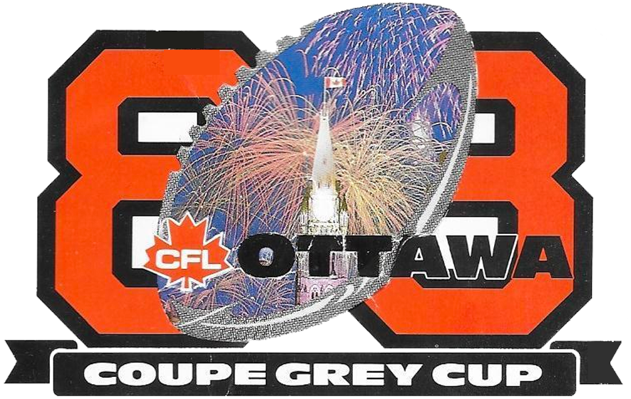 Grey Cup Logo Primary Logo (1988) - Grey Cup 1988 Logo, game played at Ottawa, ON SportsLogos.Net