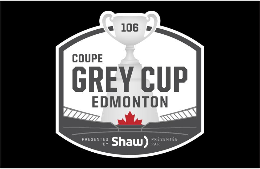 Grey Cup Logo Primary Dark Logo (2018) - 2018 Grey Cup Logo - 106th Grey Cup Logo - Coupe Grey. Played in Edmonton, Alberta SportsLogos.Net