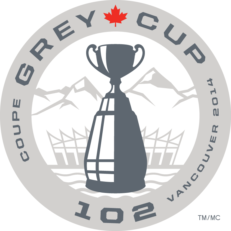 Grey Cup Logo Primary Logo (2014) - 102nd Grey Cup - 2014 Grey Cup Logo. Game to be played in Vancouver, BC SportsLogos.Net
