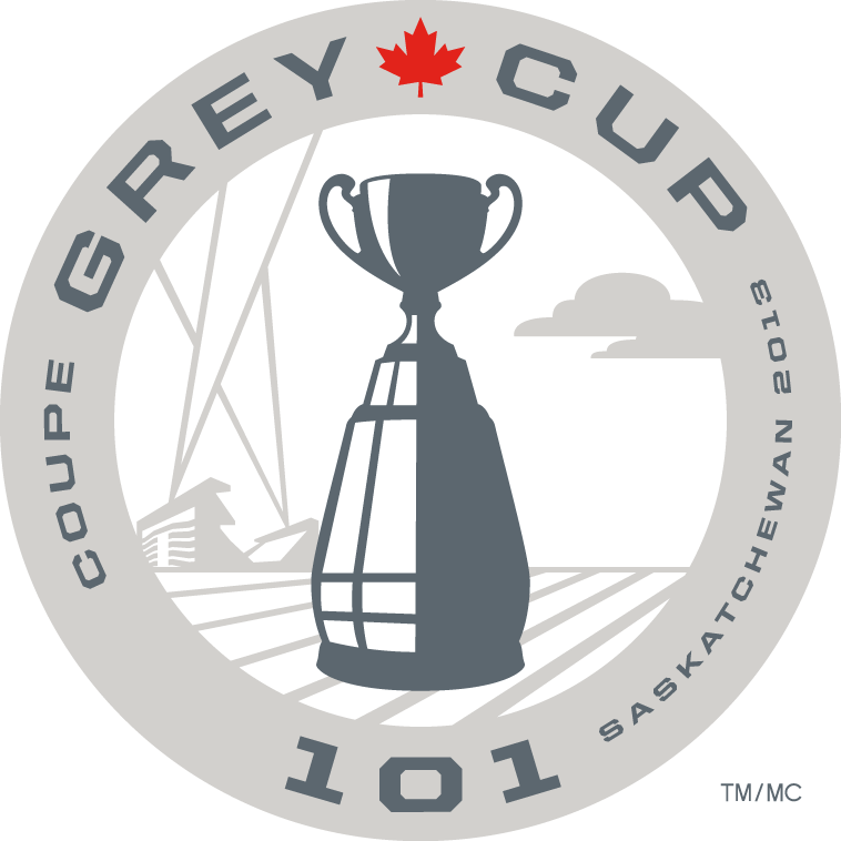 Grey Cup Logo Primary Logo (2013) - 2013 Grey Cup 101 Logo, Game played in Regina, Saskatchewan between Hamilton Tiger-Cats and Saskatchewan Roughriders SportsLogos.Net
