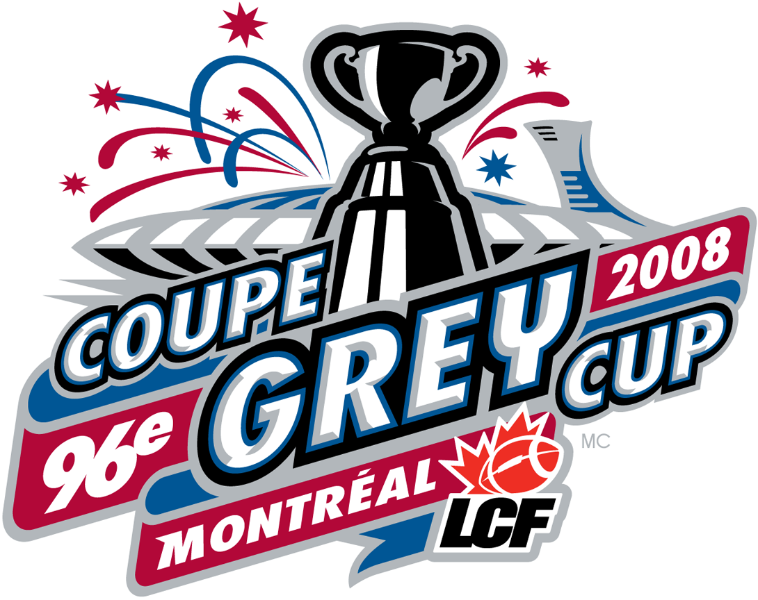 Grey Cup Logo Primary Logo (2008) - 96th Grey Cup in Montreal, Quebec SportsLogos.Net