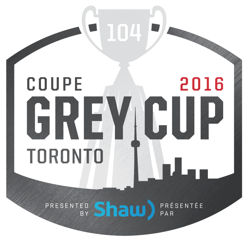 Grey Cup Logo Primary Logo (2016) - 2016 Grey Cup logo - 104th Grey Cup logo, game played at BMO Field in Toronto, ON SportsLogos.Net
