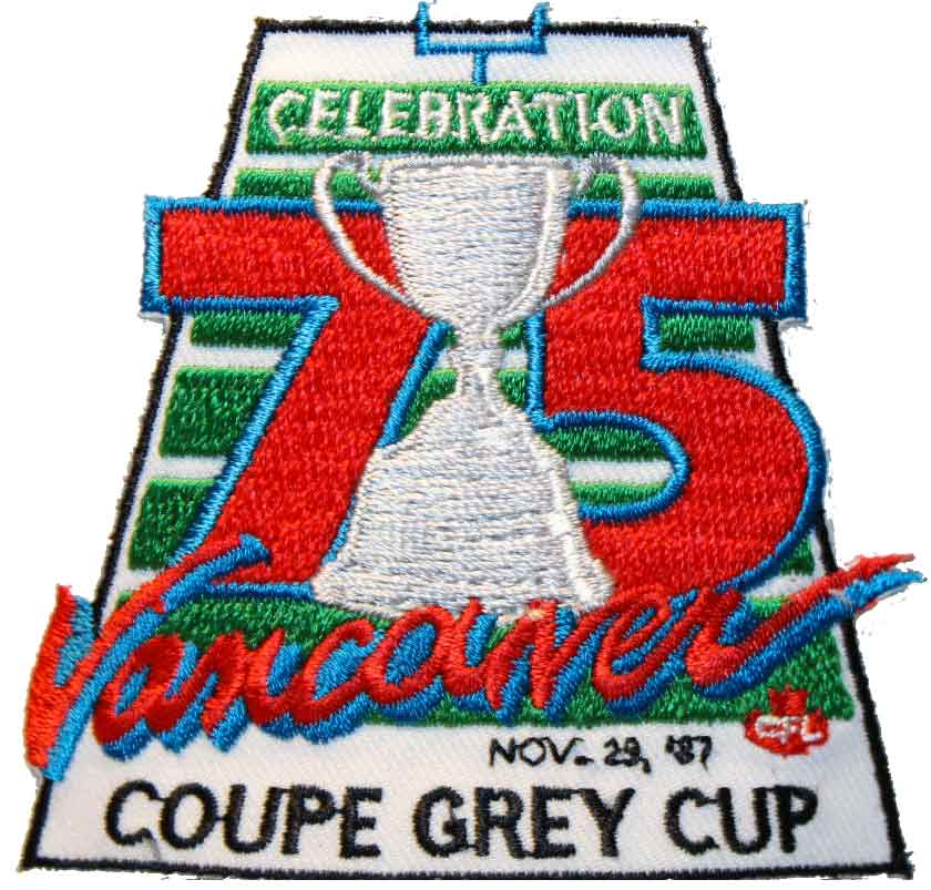 Grey Cup Logo Primary Logo (1987) - Grey Cup 1987 Logo, game played at Vancouver, BC SportsLogos.Net