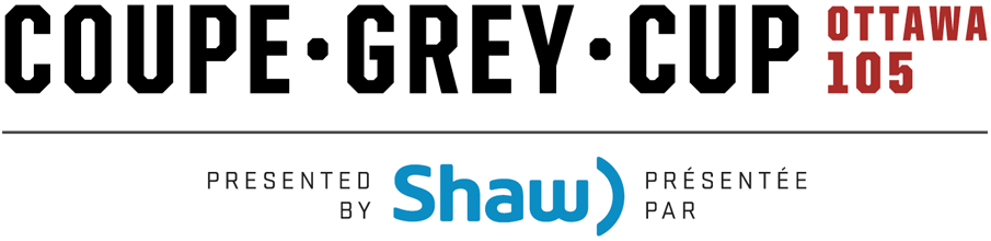 Grey Cup Logo Wordmark Logo (2017) - 2017 Grey Cup Logo - 105th Grey Cup Logo - Coupe Grey. Played in Ottawa, Ontario on November 26, 2017. SportsLogos.Net