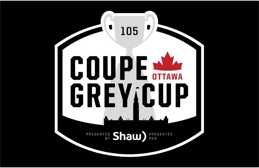 Grey Cup Logo Primary Dark Logo (2017) - 2017 Grey Cup Logo - 105th Grey Cup Logo - Coupe Grey. Played in Ottawa, Ontario on November 26, 2017. SportsLogos.Net