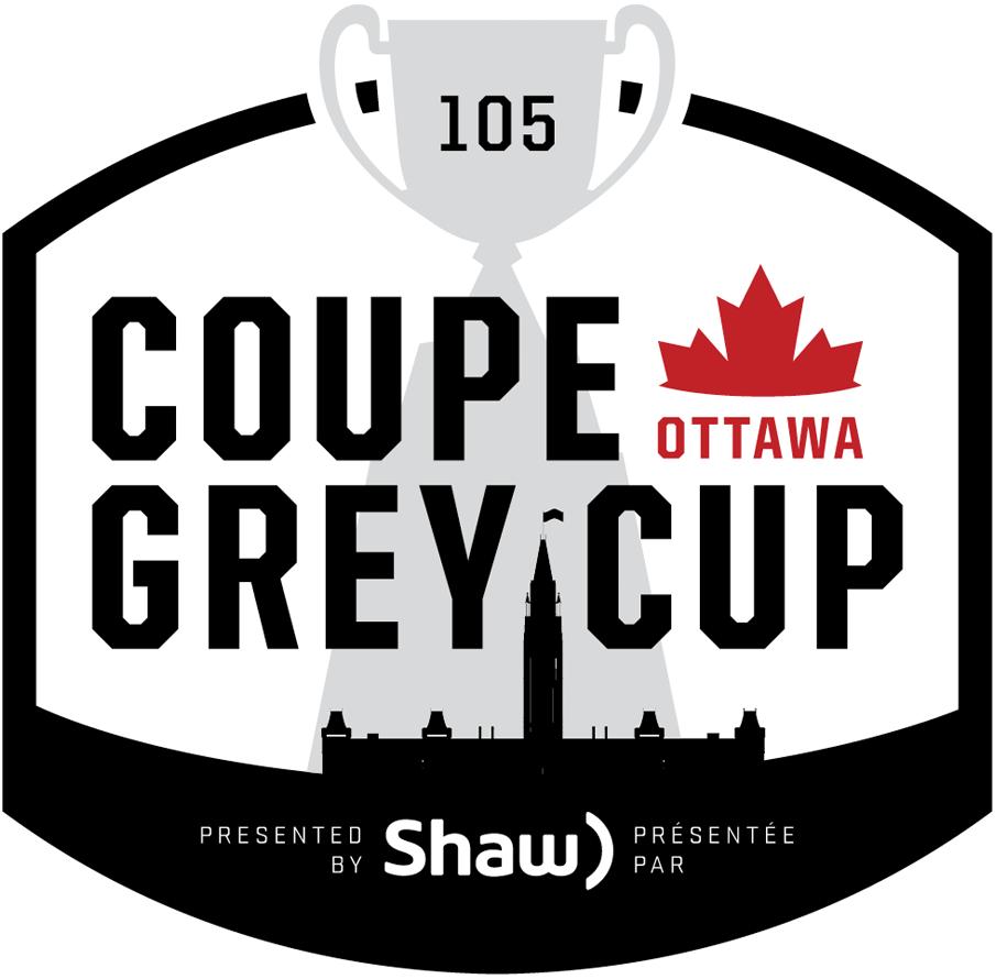 Grey Cup Logo Primary Logo (2017) - 2017 Grey Cup Logo - 105th Grey Cup Logo - Coupe Grey. Played in Ottawa, Ontario on November 26, 2017. SportsLogos.Net
