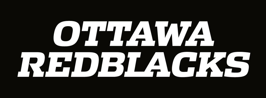 Ottawa RedBlacks Logo Wordmark Logo (2014-Pres) -  SportsLogos.Net