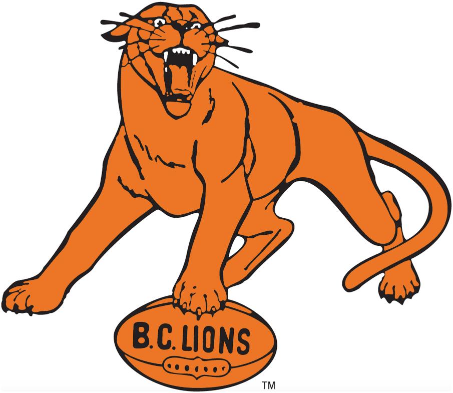 BC Lions Logo Alternate Logo (1967-1977) -  SportsLogos.Net