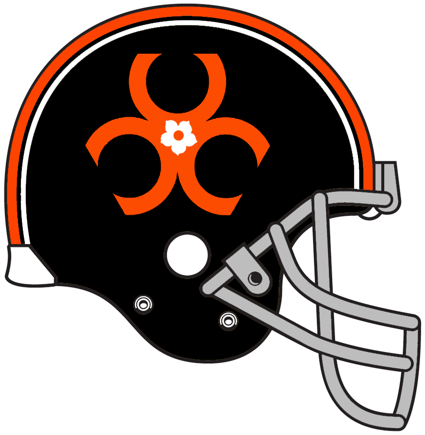 BC Lions Helmet Helmet (1971) - Special helmet worn by the BC Lions in 1971 only to commemorate the British Columbia centennial year SportsLogos.Net