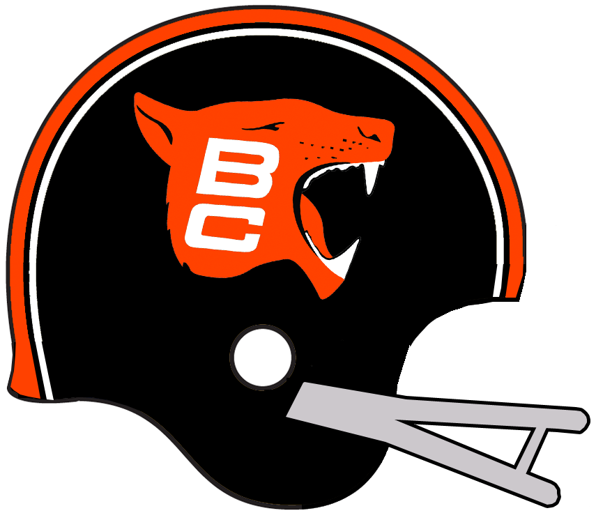 BC Lions Helmet Helmet (1967-1970) -  SportsLogos.Net