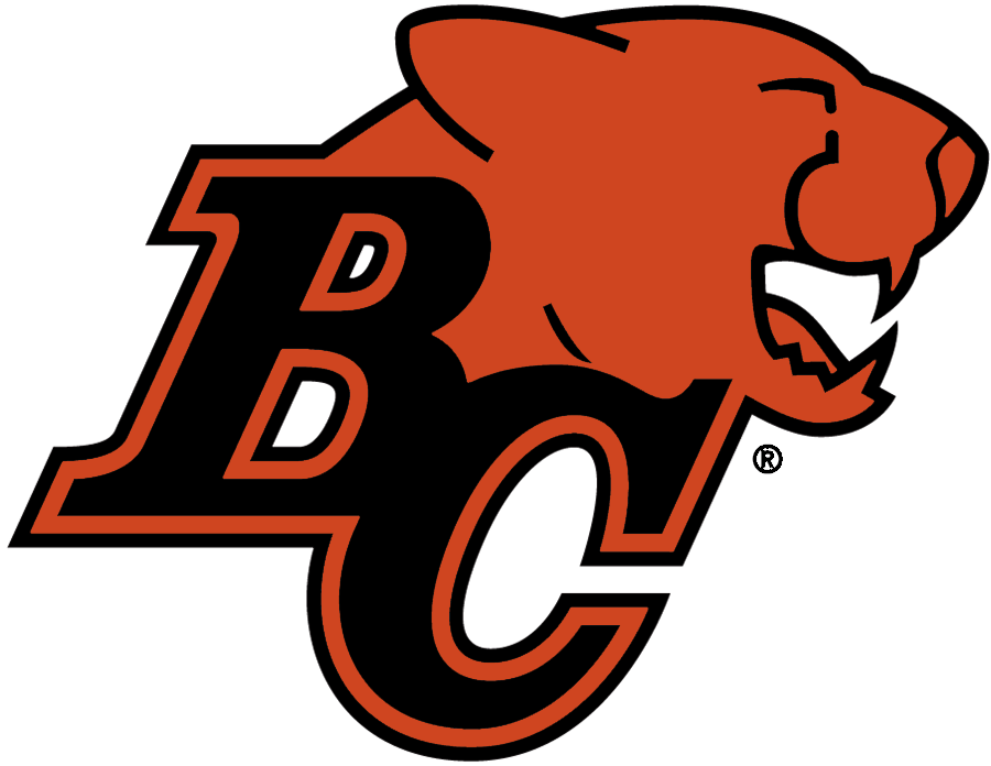 BC Lions Logo Primary Logo (2011-2015) - Black BC with orange Lions head, shade of orange adjusted slightly for 2011 season SportsLogos.Net