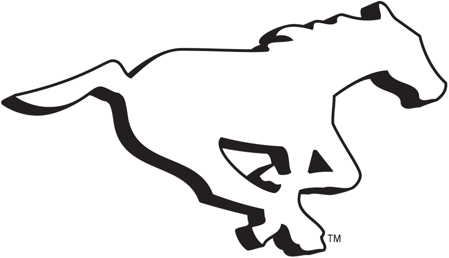 Calgary Stampeders Logo Alternate Logo (2013-2018) - Former Stampeders primary logo adds a drop shadow to match the new primary logo and is downgraded to an alternate SportsLogos.Net