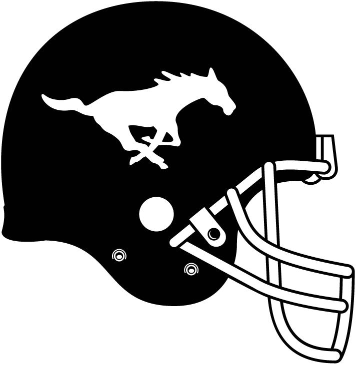 Calgary Stampeders Helmet Helmet (2012-2018) - Calgary Stampeders Away uniform helmet, black with white galloping horse on side  SportsLogos.Net