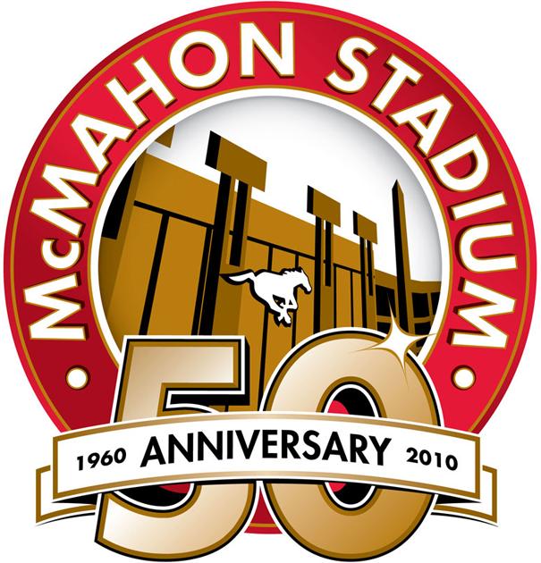 Calgary Stampeders Logo Stadium Logo (2010) - McMahon Stadium 50th Anniversary logo SportsLogos.Net