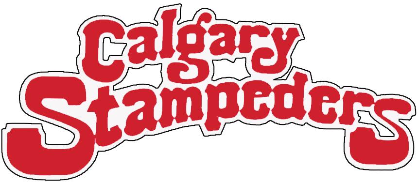 Calgary Stampeders Logo Wordmark Logo (1980-1985) -  SportsLogos.Net