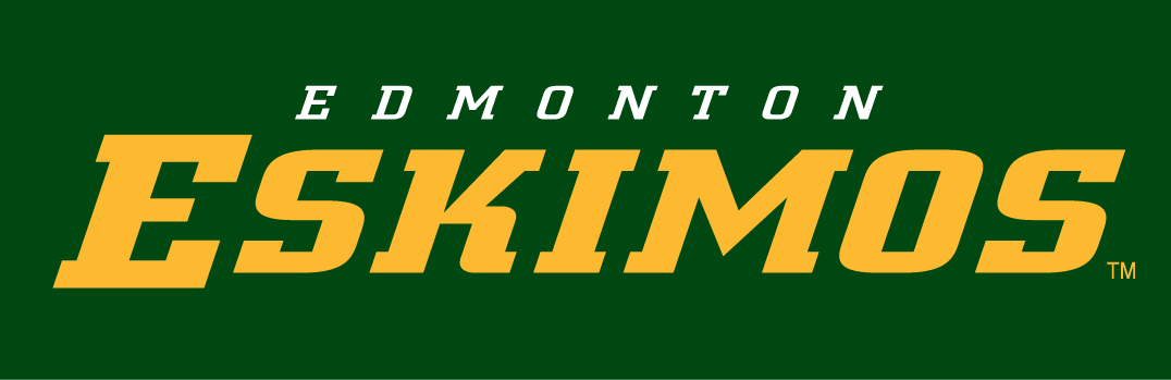Edmonton Eskimos Wordmark Logo Canadian Football League