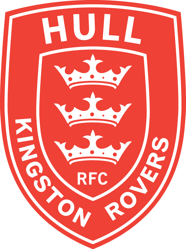 Hull Kingston Rovers Logo Primary Logo (1997-Pres) - Three white crowns inside a red and white shield SportsLogos.Net