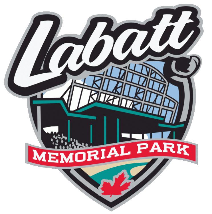 London Majors Logo Stadium Logo (2000-Pres) - Labbatt Memorial Park logo SportsLogos.Net