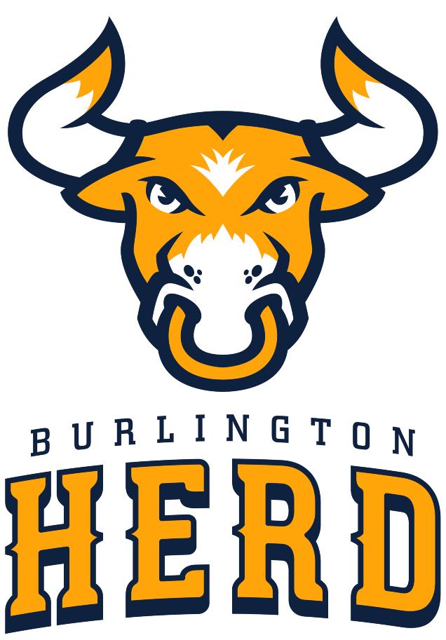 Burlington Herd Logo Primary Logo (2017) -  SportsLogos.Net