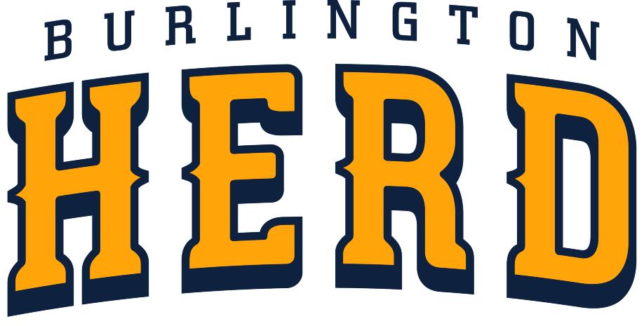 Burlington Herd Logo Wordmark Logo (2017) -  SportsLogos.Net