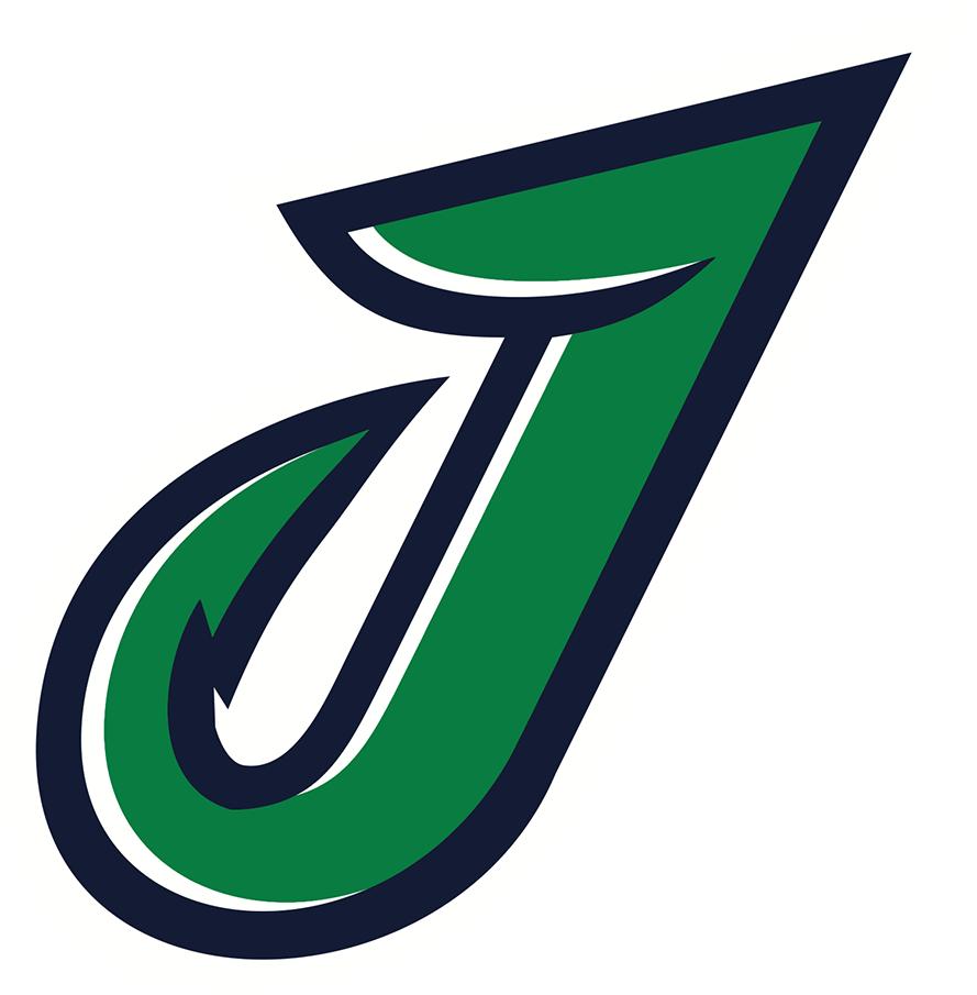 Welland Jackfish Logo Alternate Logo (2018-Pres) - A green and blue J SportsLogos.Net
