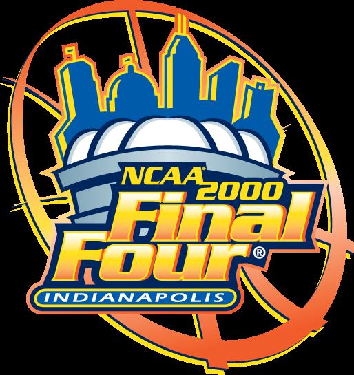 NCAA Mens Final Four Logo Primary Logo (2000) - 2000 NCAA Men's Final Four - held in Indianapolis, Indiana. - Michigan State, Florida, Wisconsin, North Carolina  SportsLogos.Net
