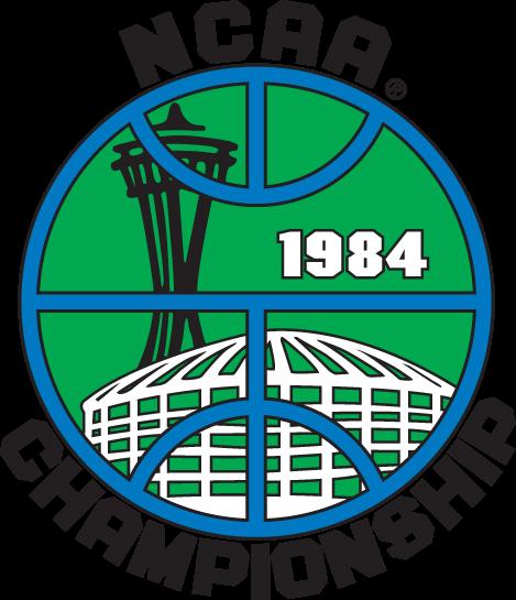 NCAA Mens Final Four Logo Primary Logo (1984) - 1984 NCAA Division I Men's Basketball Championship - held in Seattle, Washington. - Virginia, Houston, Kentucky, Georgetown SportsLogos.Net