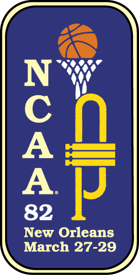 NCAA Mens Final Four Logo Primary Logo (1982) - 1982 NCAA Division I Men's Basketball Championship - held in New Orleans, Louisiana. - North Carolina, Houston, Louisville, Georgetown SportsLogos.Net