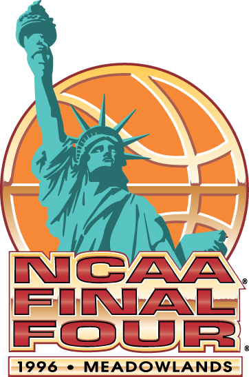 NCAA Mens Final Four Logo Primary Logo (1996) - 1996 NCAA Men's Final Four logo - held in East Rutherford, New Jersey. - Kentucky, Syracuse, UMass, Mississippi State  SportsLogos.Net