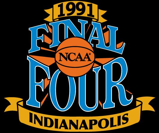NCAA Mens Final Four Logo Primary Logo (1991) - 1991 NCAA Men's Final Four Logo - held in Indianapolis, Indiana. - North Carolina, Kansas, Duke, UNLV SportsLogos.Net