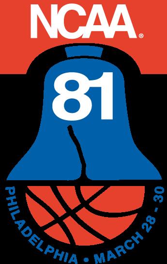NCAA Mens Final Four Logo Primary Logo (1981) - 1981 NCAA Division I Men's Basketball Championship - held in Philadelphia, Pennsylvania. - Virginia, North Carolina, Indiana, LSU SportsLogos.Net