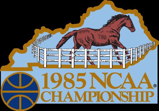 NCAA Mens Final Four Logo Primary Logo (1985) - 1985 NCAA Division I Men's Basketball Championship - held in Lexington, Kentucky. - Georgetown, St. John's, Villanova, Memphis State  SportsLogos.Net