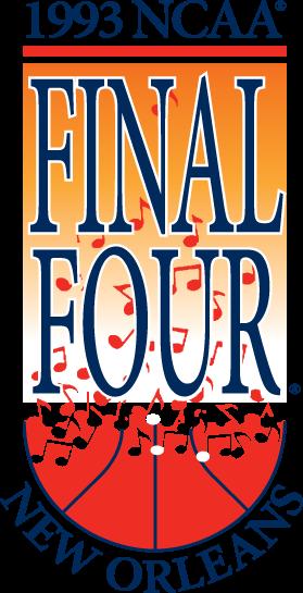 NCAA Mens Final Four Logo Primary Logo (1993) - 1993 NCAA Men's Final Four Logo - held in New Orleans, Louisiana. - North Carolina, Kansas, Kentucky, Michigan  SportsLogos.Net