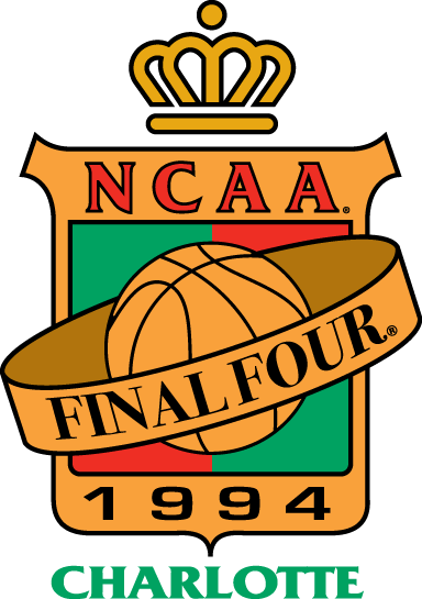 NCAA Mens Final Four Logo Primary Logo (1994) - 1994 NCAA Men's Final Four Logo - held in Charlotte, North Carolina. - Florida, Duke, Arkansas, Arizona  SportsLogos.Net