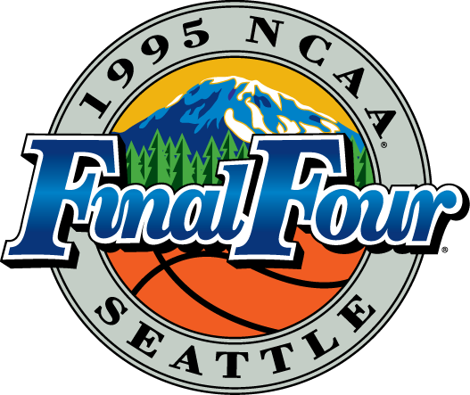 NCAA Mens Final Four Logo Primary Logo (1995) - 1995 NCAA Men's Final Four Logo - held in Seattle, Washington. - Oklahoma State,  UCLA, North Carolina, Arkansas SportsLogos.Net