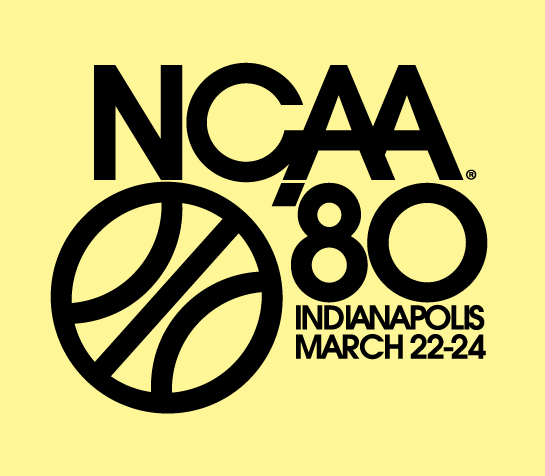 NCAA Mens Final Four Logo Primary Logo (1980) - 1980 NCAA Division I Men's Basketball Championship - held in Indianapolis, Indiana. - Iowa, Louisville, Purdue, UCLA SportsLogos.Net