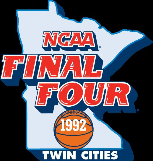 NCAA Mens Final Four Logo Primary Logo (1992) - 1992 NCAA Men's Final Four Logo - held in Minneapolis, Minnesota. - Duke, Indiana, Michigan, Cincinnati SportsLogos.Net