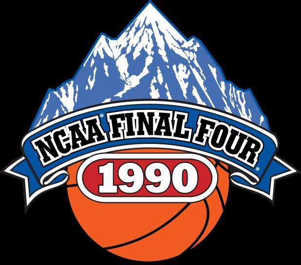 NCAA  Mens Final Four Logo Primary Logo (1990) - 1990 NCAA Men's Final Four Logo - held in Denver, CO. - Duke, Georgia Tech, Arkansas, UNLV SportsLogos.Net