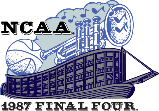 NCAA Mens Final Four Logo Primary Logo (1987) - 1987 NCAA Men's Final Four Logo - held in New Orleans, LA. - Syracuse, Providence,  Indiana, UNLV SportsLogos.Net