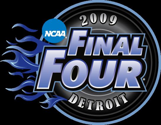 NCAA Mens Final Four Logo Primary Logo (2009) - 2009 NCAA Men's Final Four - held in Detroit, Michigan. - Michigan State, Connecticut, Villanova, North Carolina. SportsLogos.Net