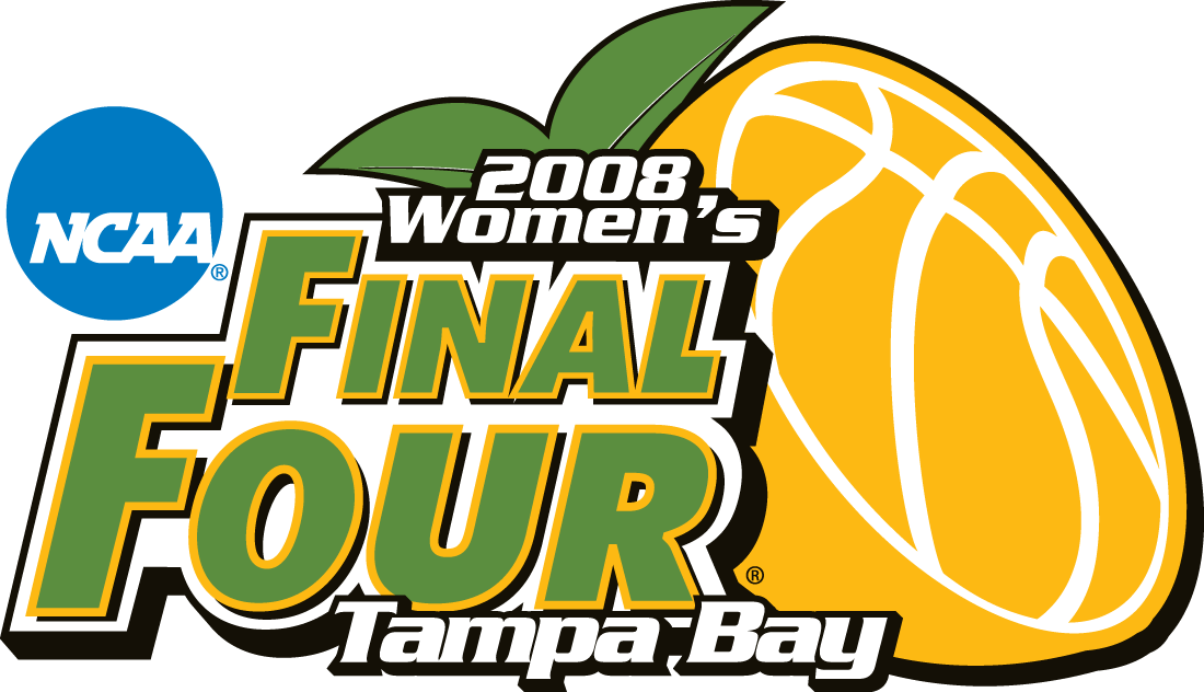NCAA Womens Final Four Logo Primary Logo (2008) - 2008 NCAA Women's Final Four - held in Tampa Bay, Florida. - Connecticut, Stanford, LSU, Tennessee SportsLogos.Net