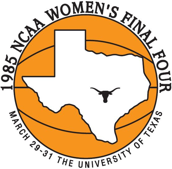NCAA Womens Final Four Logo Primary Logo (1985) - 1985 NCAA Women's Final Four - held in Austin, Texas. - Old Dominion, Northern Louisiana, Western Kentucky, Georgia  SportsLogos.Net