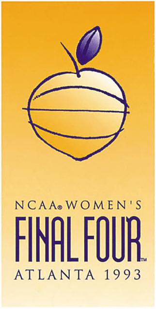 NCAA Womens Final Four Logo Primary Logo (1993) - 1993 NCAA Women's Final Four - held in Atlanta, Georgia. - Ohio State, Iowa, Vanderbilt, Texas Tech SportsLogos.Net